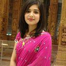 Indian Smart Girl in Dark Pink Saree Dress