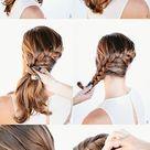 Stunning DIY Hairstyle   Side French Braid into a Bun
