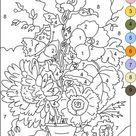 Kleurplaten op nummer | Kleurplaten voor volwassenen