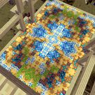 Temple floor's done! (mixed glazed terracotta pattern)