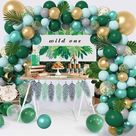 121 Pcs Jungle Safari Theme Baby Shower Decorations Balloons Garland Arch Kit, Party Supplies Decorations