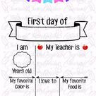 back to school svg, First Day of School SVG, Last Day of School Sign Svg, first day of school sign s