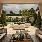 See over the Hedges into the Gorgeous Private Gardens of Palm Beach