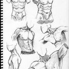male torso study by theDeathspell on DeviantArt