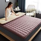 Quilting Solid Color Floor Mattress Non-Slip Thicken Tatami mat Japanese Foldable Futon Mattress Single Double Mattress Pad Anti Fading for Camping Yoga EtcD-90x200cm(35x79inch)