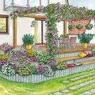 1 Garten, 2 Ideen Gestaltungsvorschläge für eine erhöhte Terrasse