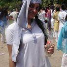 Beautiful Desi College Girl in White Salwar Kameez