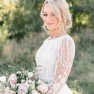 Romantic Rosy Blush Sunset Wedding | Indiana Wedding Photographer