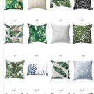 Palm Print Pillows for the Patio