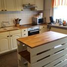Landhaus Kücheninsel aus Paletten - Pallet Diy