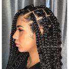big box braids bun hairstyles