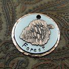 Pine Cone Dog Tag - Dog ID Tag - Pet Tag - Custom dog tag - Forest
