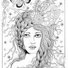 Digital Book Fairy Hair Digi Coloring Book Fairies | Etsy
