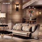 Biarritz   Tenon Hand Carved Fabric Sofa