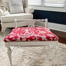 Vanity Bench Makeover - Thrifty Style Team - 2 Bees in a Pod
