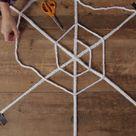 Make a Giant Braided Spiderweb - Halloween Decor DIY