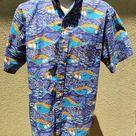 Avi Kiriaty - Kahala Artist Series Men's Aloha Shirt --  Size Large
