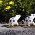 'Zuri Norsu' meaning white elephants is set of 2 with beautiful colour combination to instantly brighten the corner of your home.