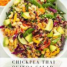 Chickpea Thai Quinoa Salad   Once Upon a Pumpkin