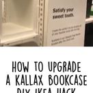 How to Upgrade a Kallax Bookcase DIY IKEA Hack