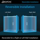DreamLine Enigma-X 76-in H x 68-in to 72-in W Frameless Sliding Polished Stainless Steel Shower Door (Clear Glass) | SHDR-61727610-08