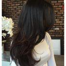 brunette layered hair