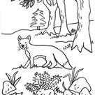 Kostenlose Malvorlage Füchse: Fuchs, Igel, Hase und Maus zum Ausmalen