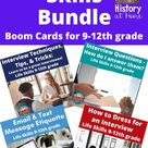 Interview Skills Bundle ~ Boom Cards for 9-12th Grade