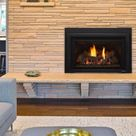 Supreme Indoor Gas Fireplace Insert - Stacked Stone