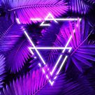 Neon Triangle Forest - IPhone Wallpapers
