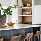 Black and White Kitchen Design for Crisp Orchard Renovation