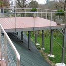 Holzterrasse auf Stelzen und Holzbalkonen in Angers aufgehängt   Kunsthandwerk ...,  Angers ...
