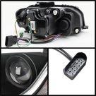 Spyder Audi A3 06 08 Projector Headlights Halogen Model  Light Tube DRL Blk PRO YD AA306 LTDRL BK