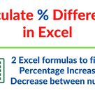 Calculate Percentage difference in Excel