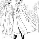 Frozen 2 : Anna & Elsa without text - Frozen 2 Coloring Pages for Kids - Just Color Kids : Coloring Pages for Children