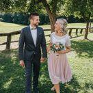 Zweilteiliges Brautkleid aus Tüllrock in Blush und Boho Spitzentop   noni
