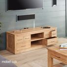 Mobel Oak Widescreen Television Cabinet by Baumhaus