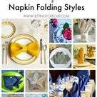 Napkin Folding Rose