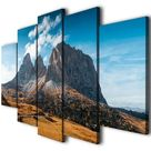 Alps mountains canvas art, View of Val Gardena Canvas Print, Ready To Hang Wall Art, Autumn Dolomite