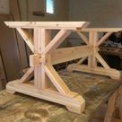 Farmhouse Double Trestle Table DIY Kit - made to order
