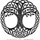 Vektorschmuck, dekorativer keltischer Baum Stock-Vektorgrafik (Lizenzfrei) 394856764