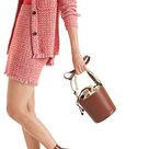 """Tweed skirt """"Knitted in Germany"""", red"""