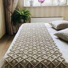 Macrame bedrunner/ boho bedroom decoration/bedrunner/table runner/ bohemian bedroom decor/macrame decor/ macrame runner