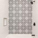 Black and white tile work ❤️