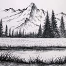 Let's Draw Snow-covered Mountains