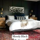 Moody Black Bedroom