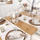 Tischdekoration in Naturtönen... so