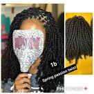Spring Twist Kinky Twist,  Braided wigs ,Braids for Black Woman, Passion Twist Kontless, Kinky Twist Braided Wig,Braided Lace Wig