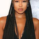 Fulani braids with beads on Teaira Walker