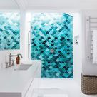 Wandgestaltung mit Fliesen | Fliesen in Blautönen | Interior Design